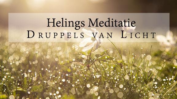 Gratis meditatie album, helingsmeditatie; visualisatie van lichtdruppels